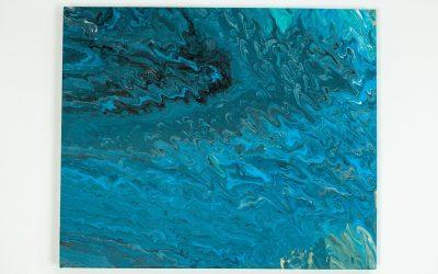Zeichnung Schwarze und blaue Perspektive