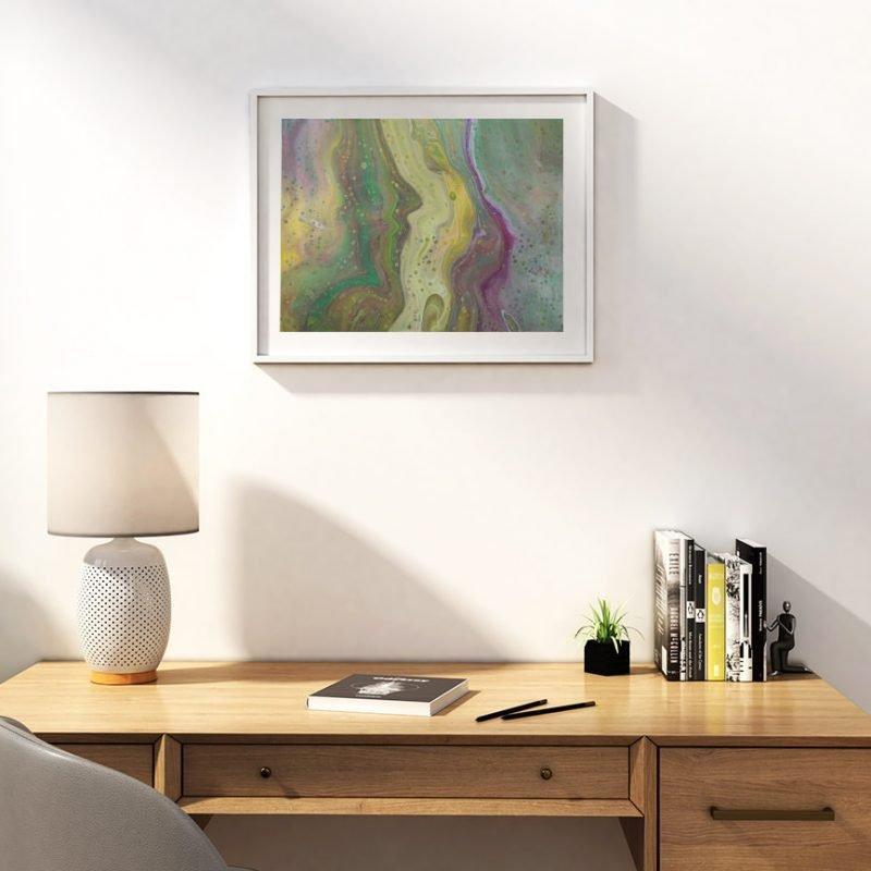 Abstrakt kunst Vogelfeder