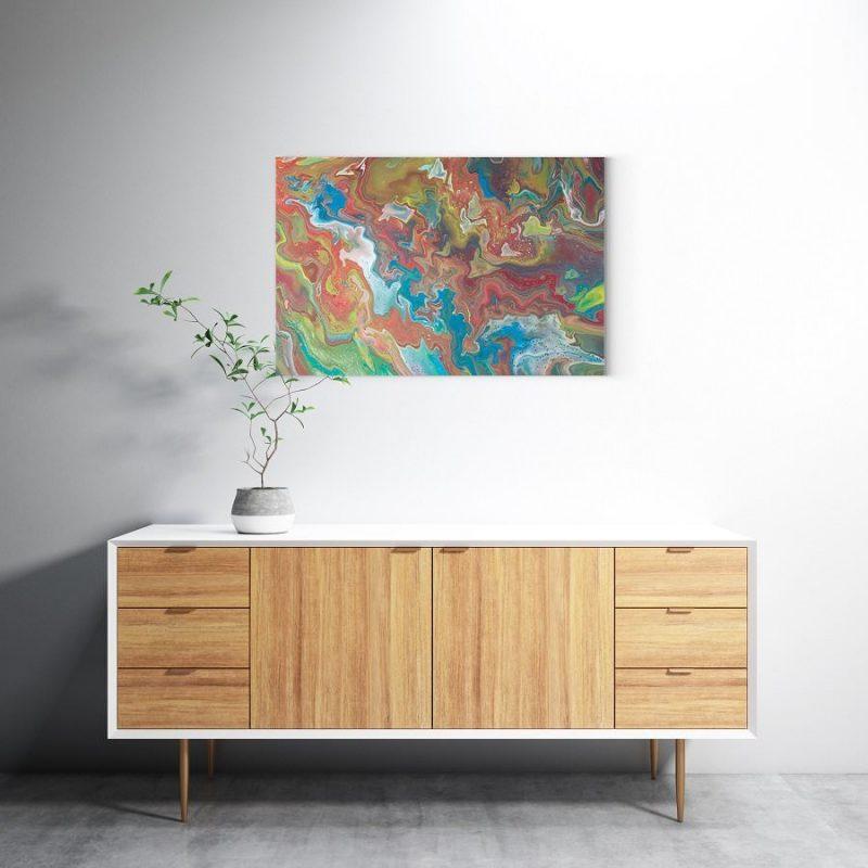 Abstrakt Kunst Bild Fall der Blätter malerei abstrakte kunst