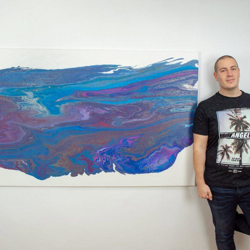 Abstrakt Kunst Bild Funky Welt malerei abstrakte kunst