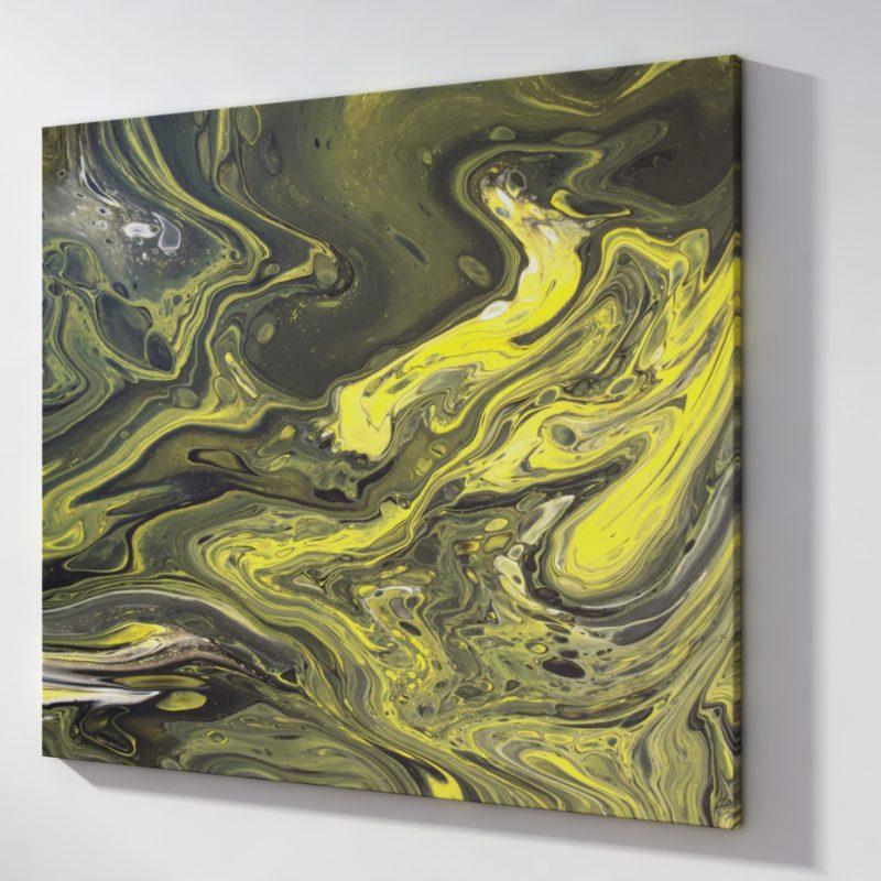 Abstrakt Bild Goldene Stränge malerei abstrakte kunst