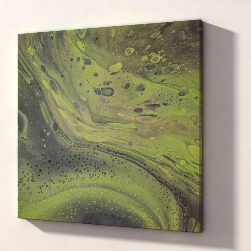 Abstrakt Kunst Bild Grüne Felsen malerei abstrakte kunst