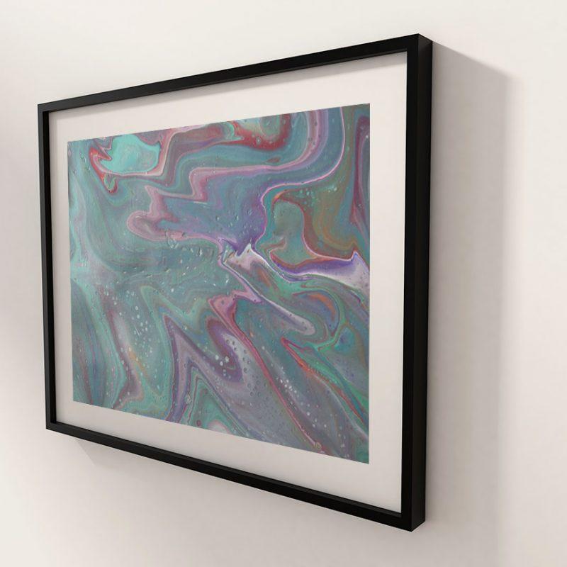 Abstrakt Kunst Satin Brise