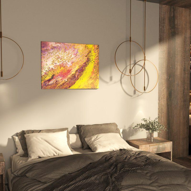 Abstrakt Kunst Bild Geheimes Tal der Veilchen malerei abstrakte kunst