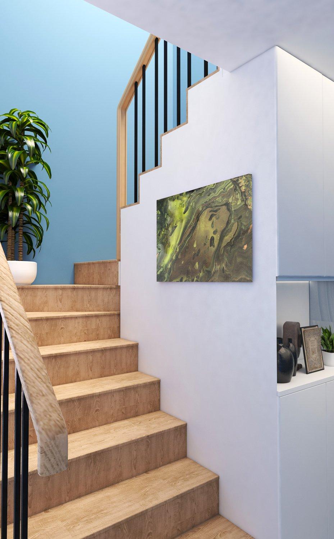 Abstrakt kunst Bild Sirenengeschichte malerei abstrakte kunst