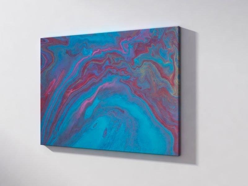 Abstrakt Bild Kunst Der blaue Abgrund malerei abstrakte kunst