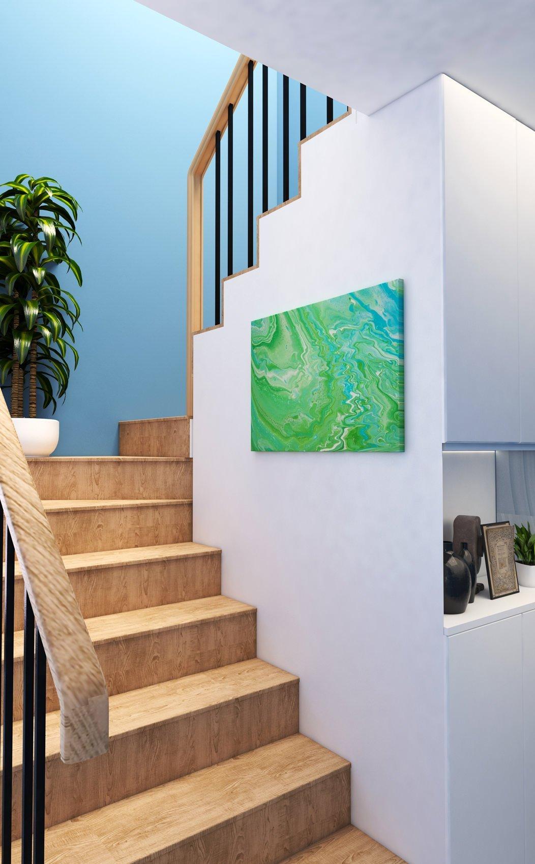 Abstrakt Bild Die Insel malerei abstrakte kunst