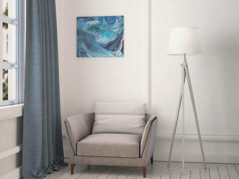 Abstrakt Kunst Bild Herzensstränge malerei abstrakte kunst