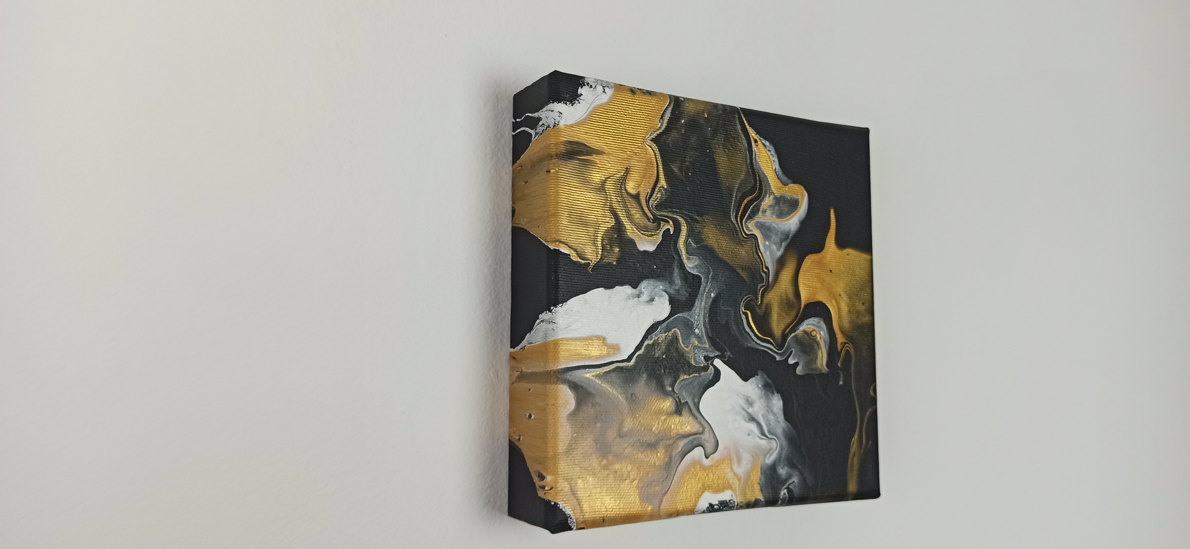 Abstrakt Bild Schwarzes Gold 3D Leinwand