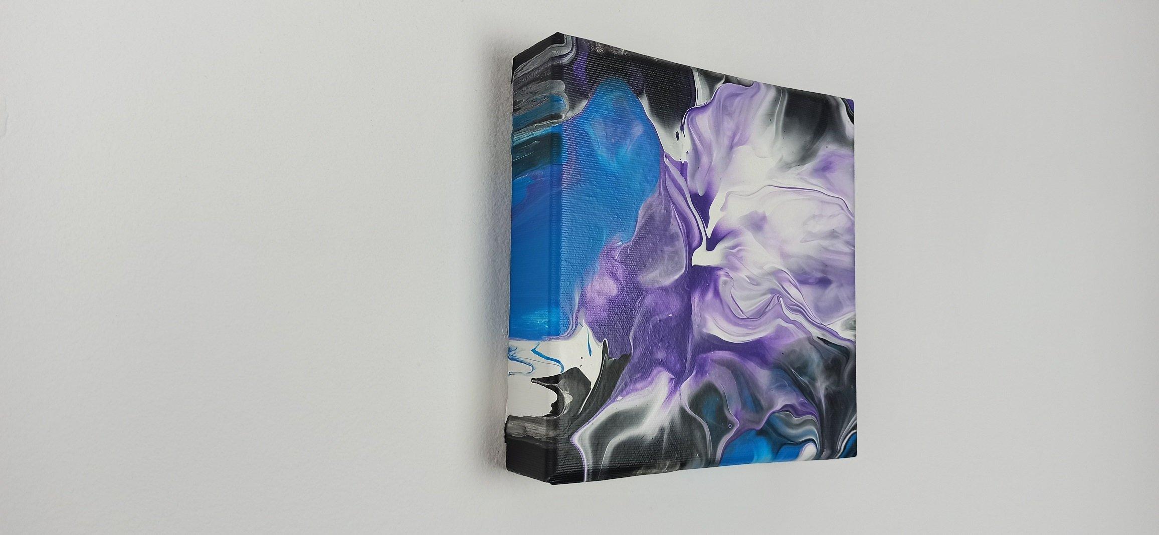 Abstrakt Bild Blume 3D Leinwand