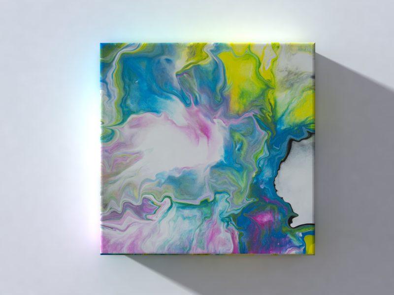Abstrakt Bild Sonne 3D Leinwand