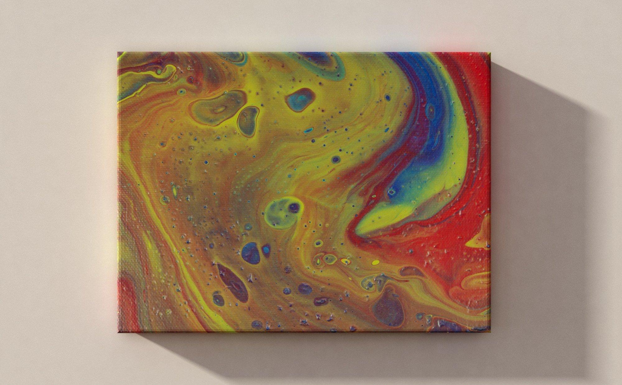 Abstrakt Bilder Grün (Verkauft)